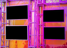 Colorful plasma panels Royalty Free Stock Photography