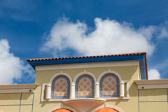 Colorful Plaster Building in Aruba. Colorful buildings on the Island of Aruba stock photography