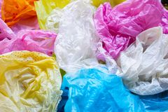Colorful of plastic bags. Colorful plastic bags for background royalty free stock image