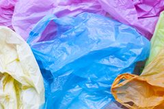 Colorful of plastic bags. Colorful plastic bags for background stock image