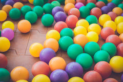 Colorful plastic ball in playground Stock Photo