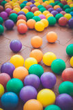 Colorful plastic ball in playground Royalty Free Stock Image