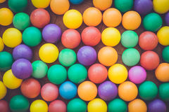 Colorful plastic ball in playground Stock Images