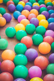 Colorful plastic ball in playground Royalty Free Stock Photos