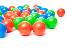 Colorful plastic balls Royalty Free Stock Images