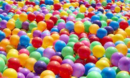 Colorful plastic balls background. Colorful plastic balls for background, outdoor daylight royalty free stock photography