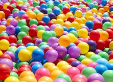 Colorful plastic balls background. Colorful plastic balls for background, outdoor daylight stock photos