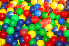 Colorful plastic balls on children's playground Royalty Free Stock Photography