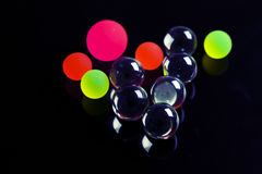 Colorful plastic balls Stock Photo