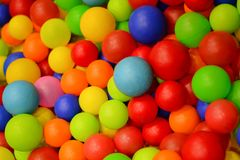 Colorful plastic balls Stock Image