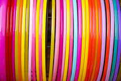 Colorful plastic bangle Royalty Free Stock Photo