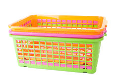 Colorful plastic baskets Stock Image