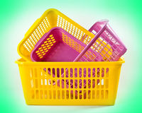 plastic baskets Stock Images