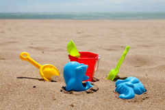 Colorful plastic beach toys Stock Photography