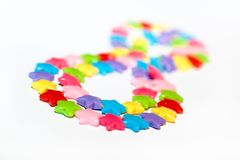 Colorful plastic beads Royalty Free Stock Photo