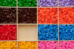 Colorful plastic beads background Stock Photo