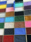 Colorful plastic beads Royalty Free Stock Image