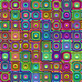 Colorful plastic blocks. Texture of bright colored 3d rounded squares Stock Photos