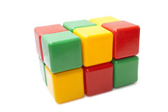 Colorful plastic blocks Royalty Free Stock Photo