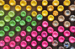 Colorful plastic bottle Royalty Free Stock Photos