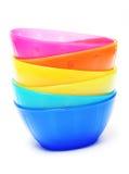 Colorful plastic bowl - dish wear Stock Image