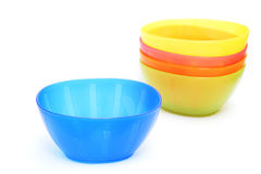 Colorful plastic bowl - dish wear Royalty Free Stock Image