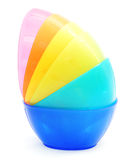 Colorful plastic bowl - dish wear Royalty Free Stock Photos