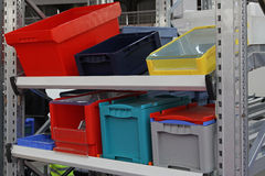 Boxes and crates Royalty Free Stock Photos