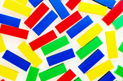 Colorful Plastic Bricks Toys for children Stock Photography