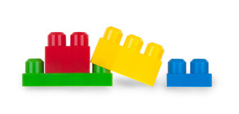 Colorful plastic bricks Stock Photography