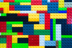 Colorful plastic building block Stock Image