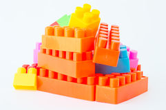 Colorful Plastic building blocks. Stock Image