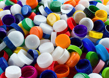 Colorful plastic caps Royalty Free Stock Images
