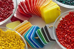 Colorful plastic cards royalty free stock images