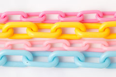 Colorful Plastic Chain Royalty Free Stock Photography