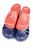 Colorful Plastic Clogs Royalty Free Stock Image