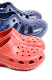 Colorful Plastic Clogs Royalty Free Stock Photography
