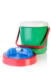 Colorful plastic cool box Stock Photo