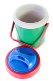 Colorful plastic cool box Royalty Free Stock Photos