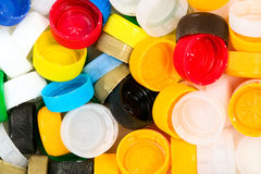 Colorful plastic corks Royalty Free Stock Images