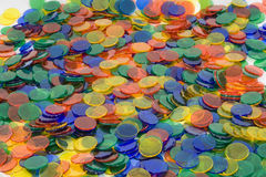 Colorful plastic counters Stock Photo