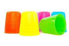 Colorful plastic cup Royalty Free Stock Photos