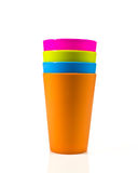 Colorful plastic cup. Stock Image