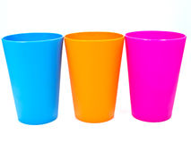 Colorful plastic cup. Royalty Free Stock Photography