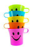 Colorful Plastic Cup Stock Photo