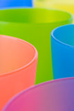 Colorful plastic cups Stock Photography