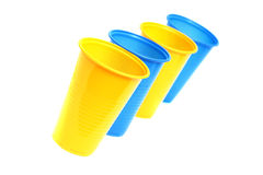Colorful plastic cups. Stock Image