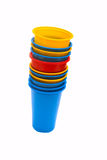 Colorful plastic cups. Stock Images