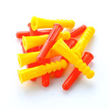 Colorful plastic dowels Stock Photography