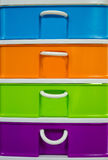 Colorful of plastic drawer stock photos